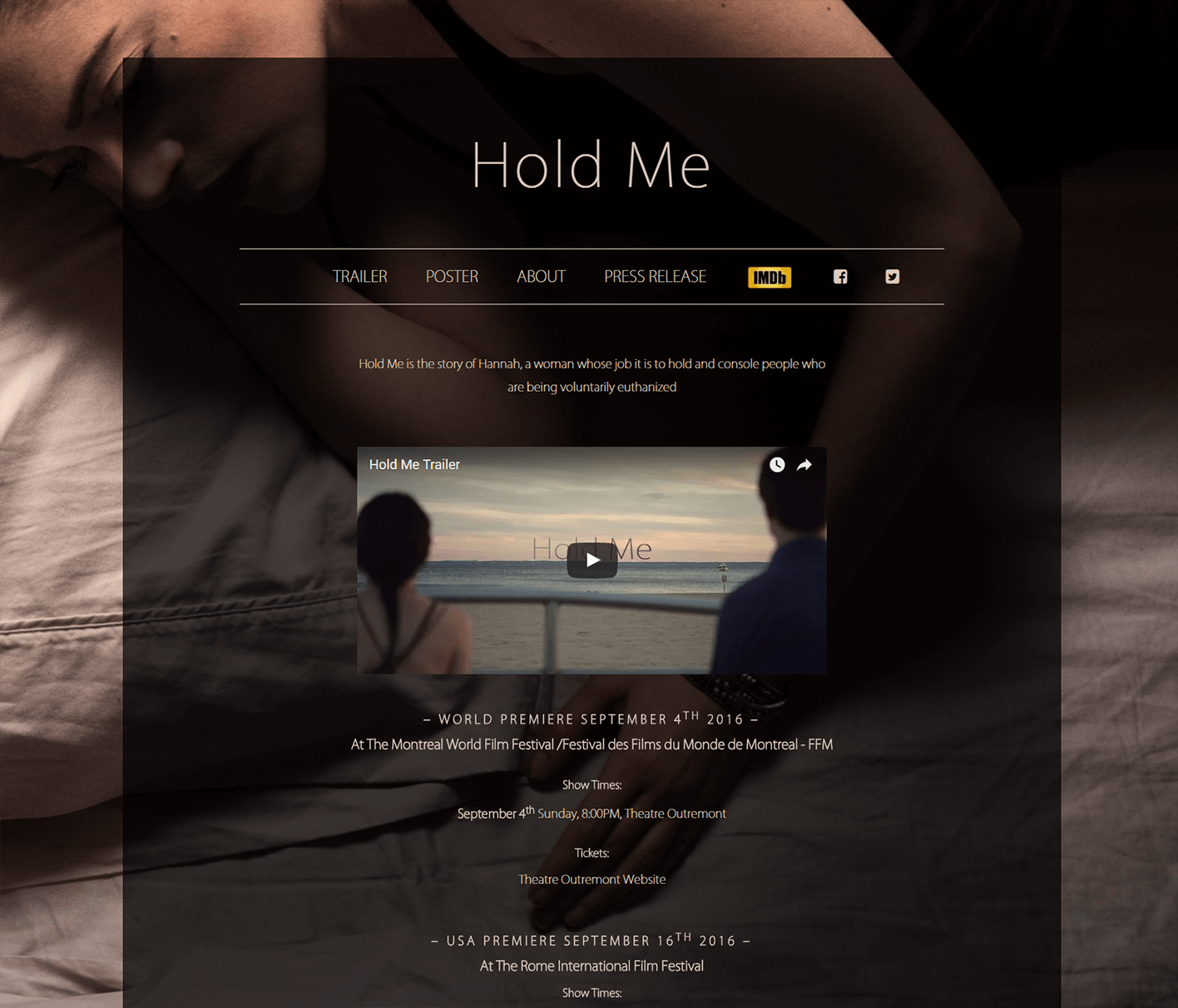 image of Hold Me website